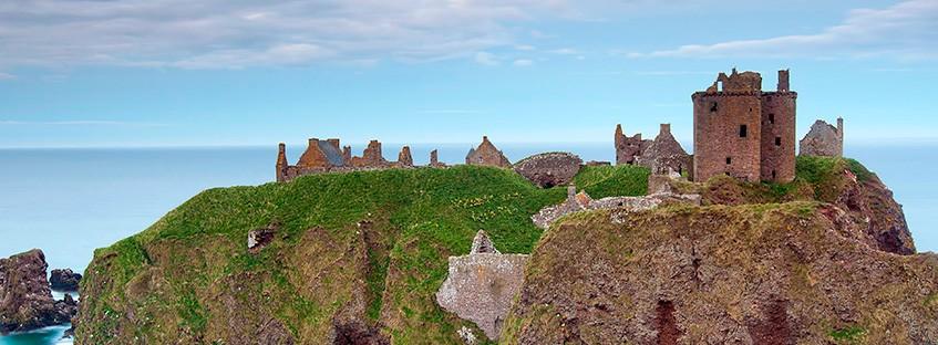 Localización del castillo de Dunnottar