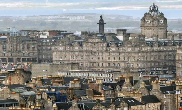 vista de la new town de Edimburgo