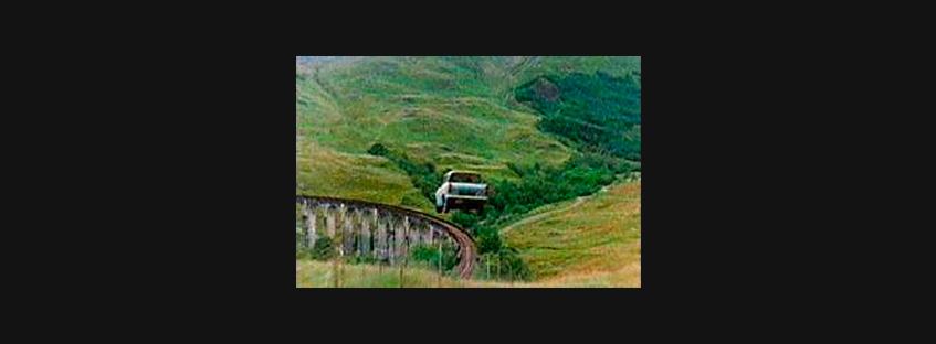 Escena de coche volador en Harry Potter