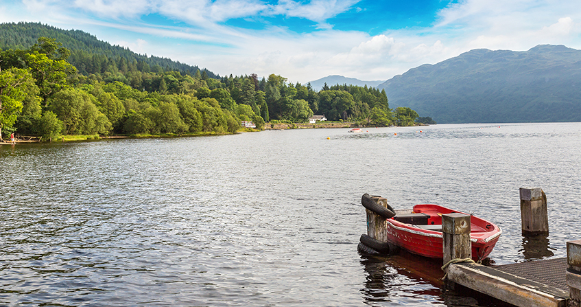 Orilla del Loch Lomond