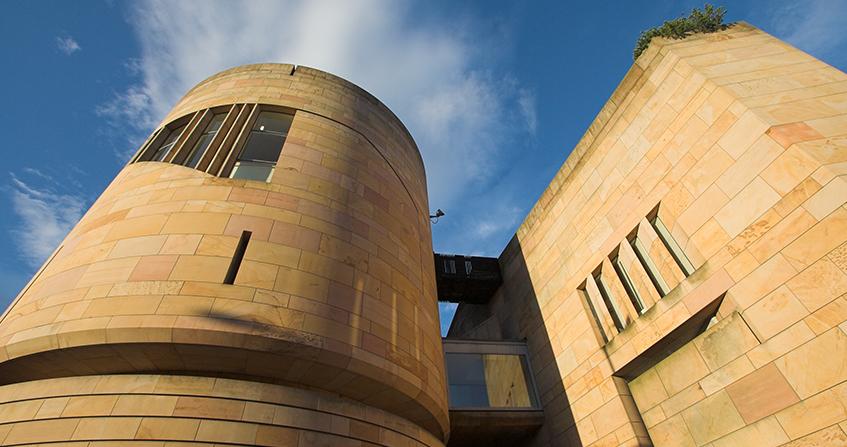 Fachada nueva del Museo Nacional de Escocia