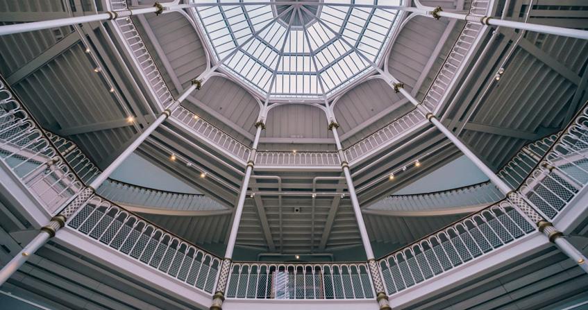 Vista del techo del Museo Nacional de Escocia