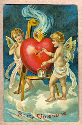 Tarjeta Antigua de San Valentín en escocia