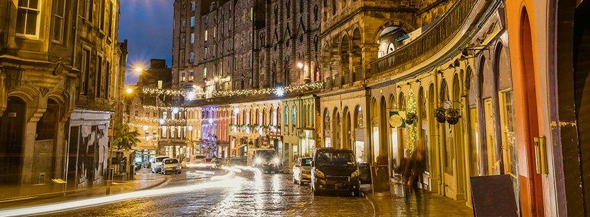 Edimburgo ambiente nocturno