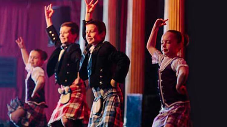 baile durante el show escoces