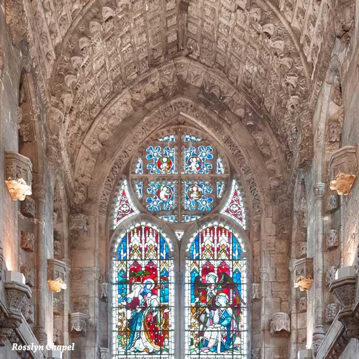 capilla de rosslyn en el tour desde edimburgo