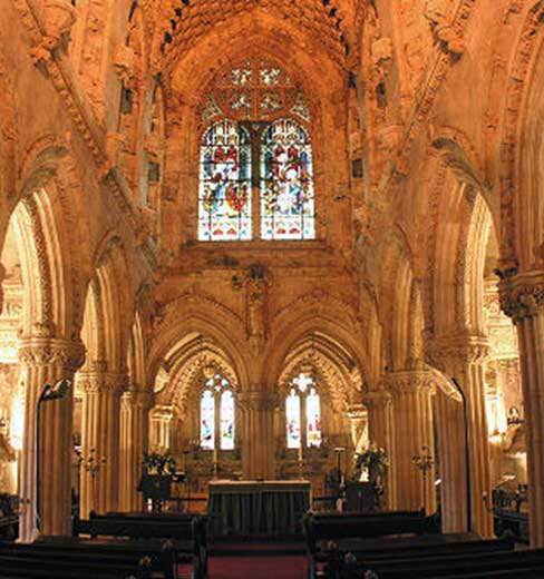 capilla de rosslyn interior