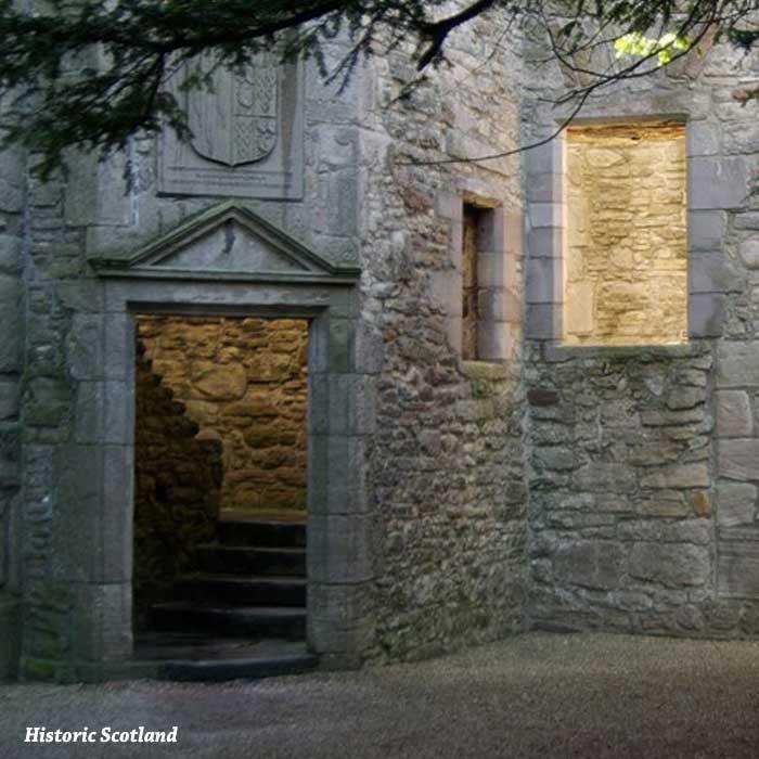 castillo de craigmillar escaleras