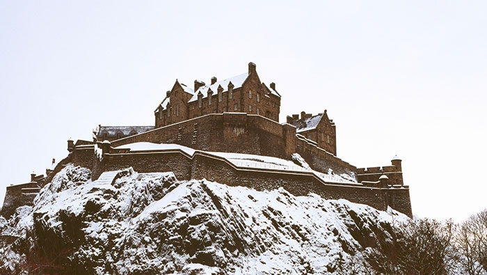 castillo de edimburgo nevado