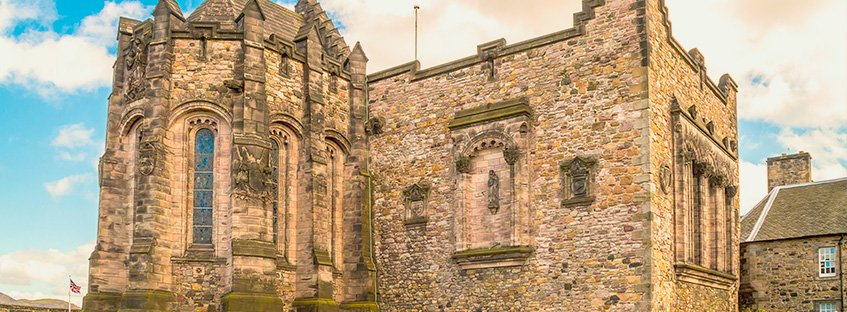 La capilla de Santa Margarita en el Castillo de Edimburgo