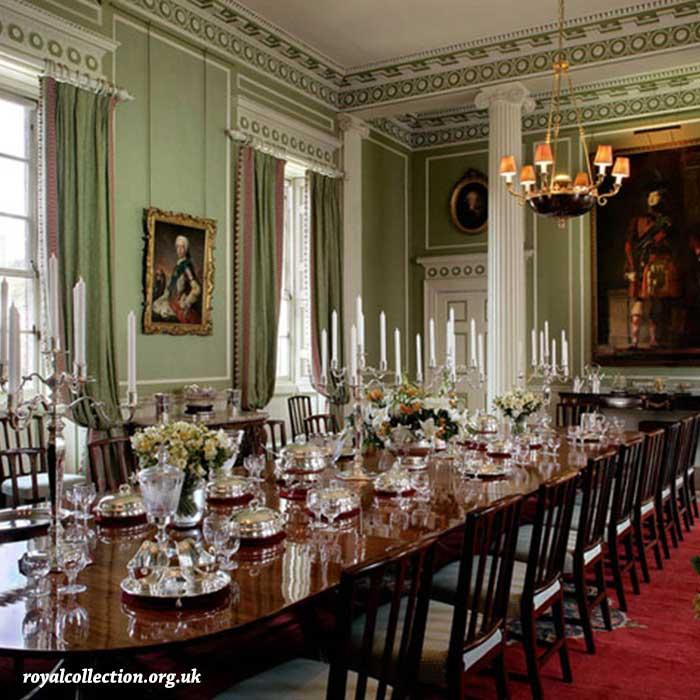 comedor en el palacio de edimburgo