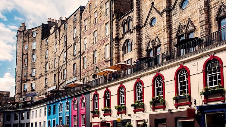 Edificios de Victoria Street en la Ciudad Vieja