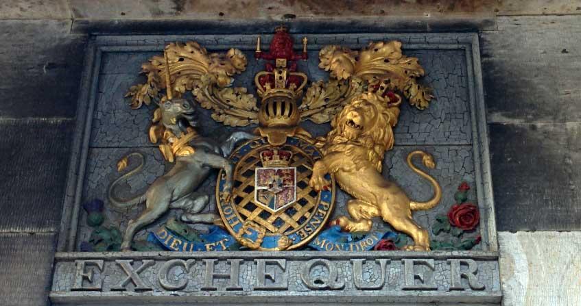 escudo con unicornio en edimburgo