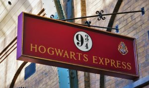 Anden 9 y 3/4 en Kings Cross, Harry Potter