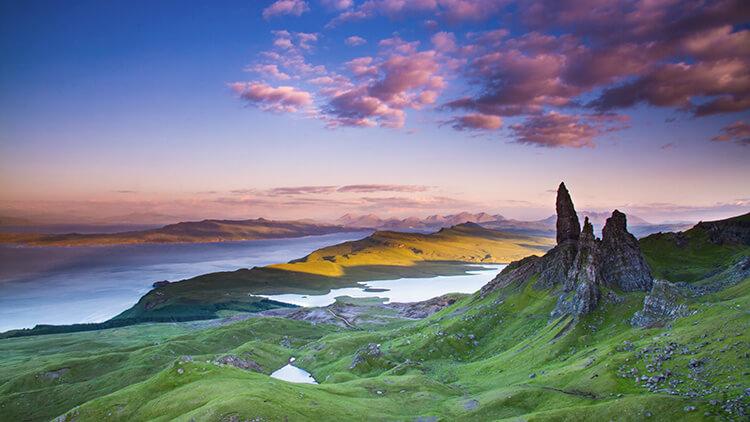 Valle situado en la Isla de Skye