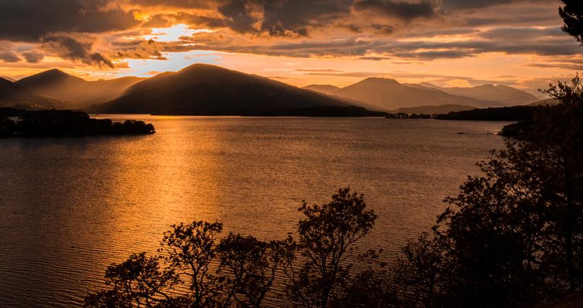 Loch Lomond al atardecer