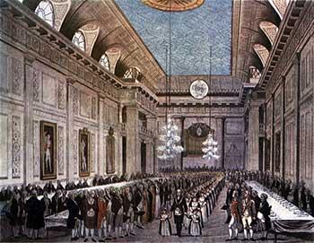 Reunión de masones en Londres, 1809