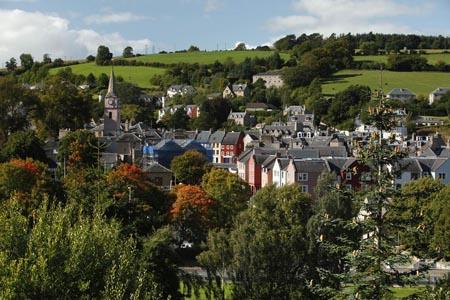 Vista general del pueblo de Jedburgh