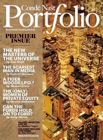 Revista Portfolio con portada de Condé Nast
