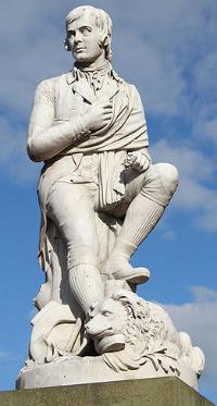 Estatua de Rubert Burns en Dumfries