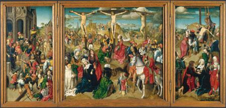 Tríptico del Maestro Delft. Escenas de la Pasión de Cristo.