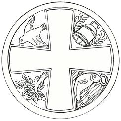 Representación de la Cruz con los cuatro milagros de San Mungo
