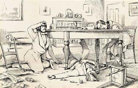 Descubrmiento del poder del cloroformo. Imagen extraida de Wikipedia.org