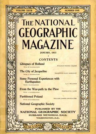 Portada de la Revista National Geographic. Imagen tomada de Wkipedia.org.