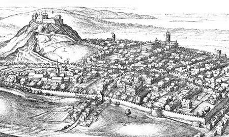 La Ciudad Vieja de Edimburgo durante el siglo XVII. Wikipedia.org