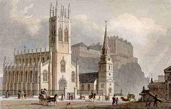 Iglesia de St John y St Cuthbert. antiquemapsandprints.com