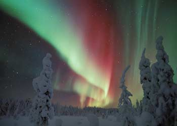 Aurora Boreal Nieve