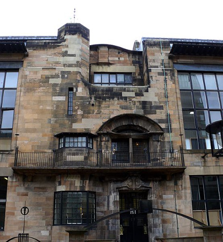 Fachada de la Escuela de Artes de Glasgow de Mackintosch