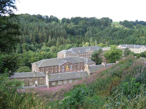 Vista del complejo de New Lanark