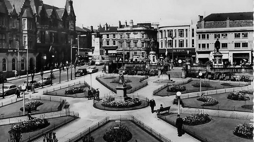 Fotografía antigua de la ciudad de Paisley.