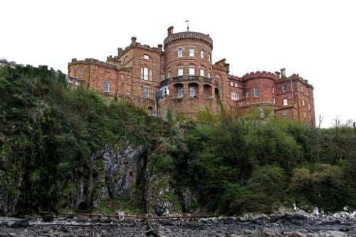 El castillo de Culzean con vista del acantilado.