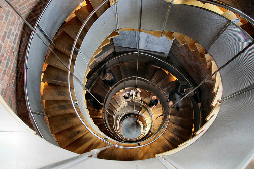 Escalera de la torre de lighthouse de Mackintosh