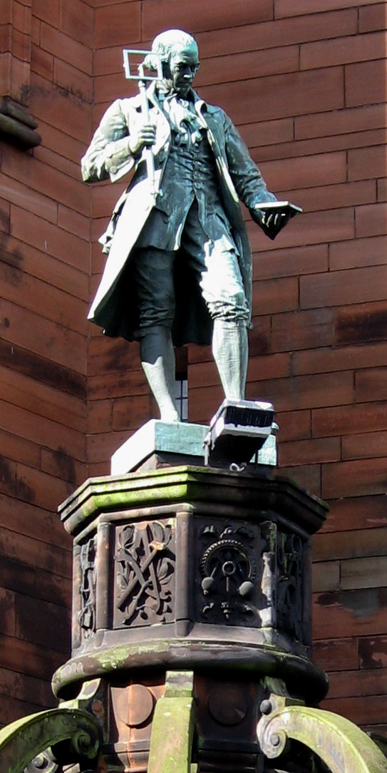 estatua monumento james watt
