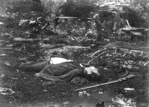 Fotografía del escocés Alexander Gardner en la Guerra Civil Americana en blanco y negro