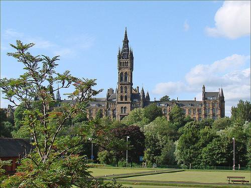 Parque kelvingrove en Glasgow
