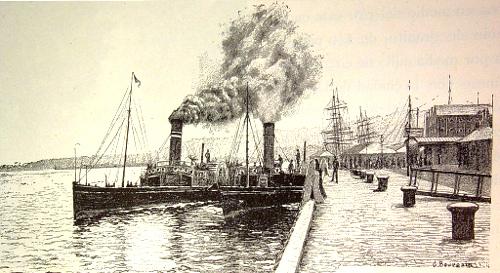 El clyde en el puerto de greenock.