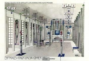 Diseño de sala de musica por Charles Rennie Mackintosh