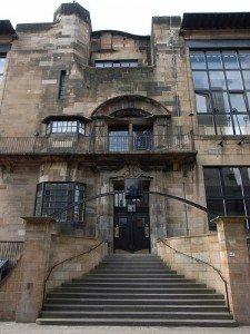 Fachada de la Escuela de Arte de Glasgow
