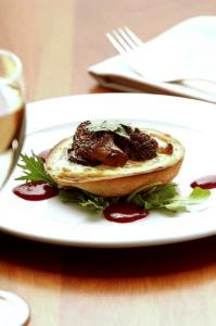 Plato vegetariano en el restaurante vegetariano David Bann