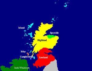 regiones del whisky en Escocia