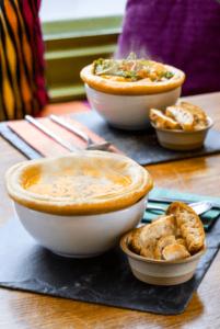 Sopa en el restaurante Union of Genius en Edimburgo