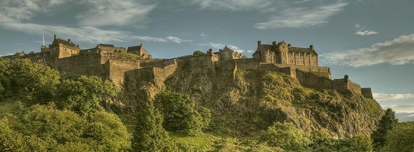 Vista general del Castillo de Edimburgo