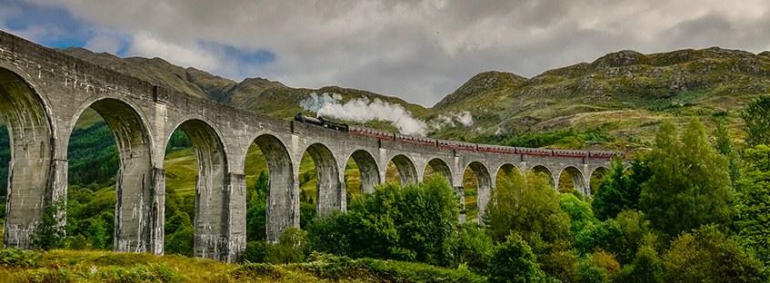 El Jacobite Train y el viaducto de Glenfinnan