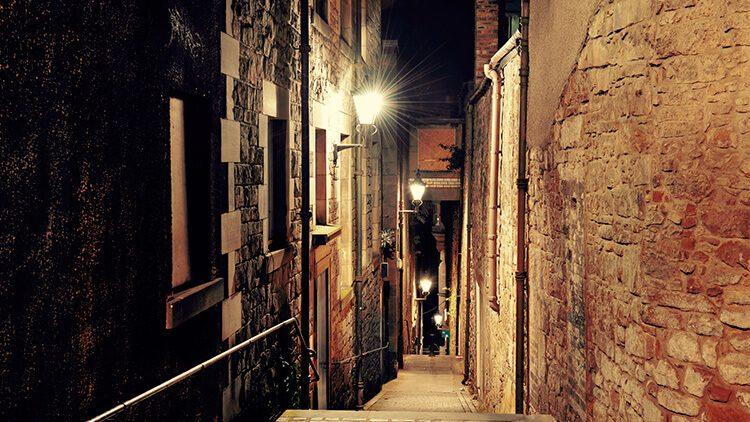 Uno de los callejones de la Ciudad Vieja
