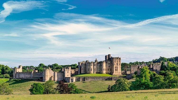 Castillo de Alnwick, cerca de Newcastle (Inglaterra)