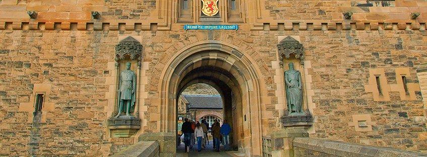 La puerta de la entrada del Castillo de Edimburgo